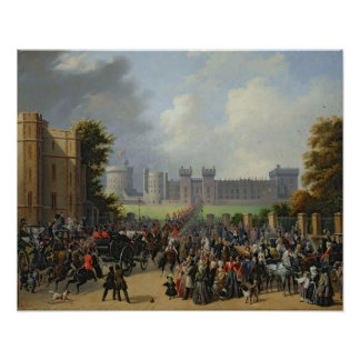 The Arrival of Louis-Philippe  at Windsor Poster