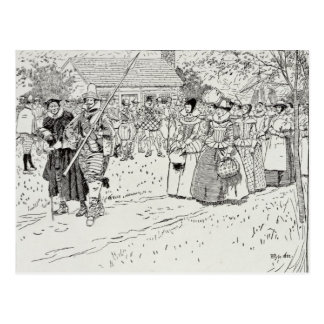 The Arrival of the Young Women at Jamestown Postcard