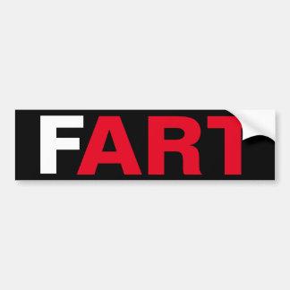 The ART of a FART Bumper Sticker