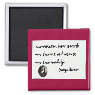 The art of conversation square magnet