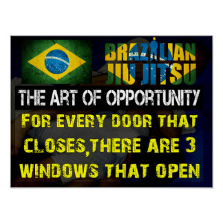 """The Art of Opportunity"" Brazilian Jiu Jitsu Print"
