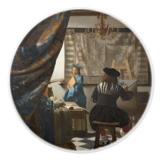 The Art of Painting by Johannes Vermeer Ceramic Knob