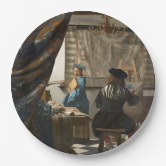 The Art of Painting by Johannes Vermeer Paper Plate
