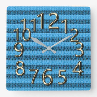 The-Art-of-Time- Blue  & Gold- Clocks