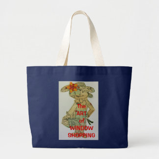 The Art of Window Shopping Large Tote Bag