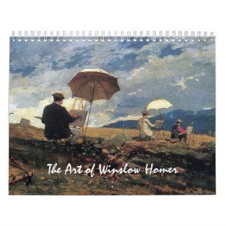 The Art of Winslow Homer Wall Calendars
