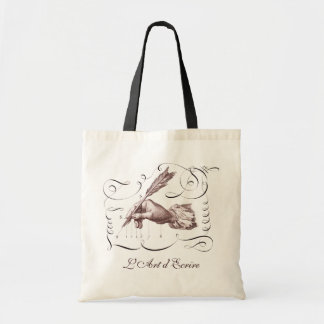 The Art of Writing - L'Art d'Ecrire -Calligraphy Tote Bag