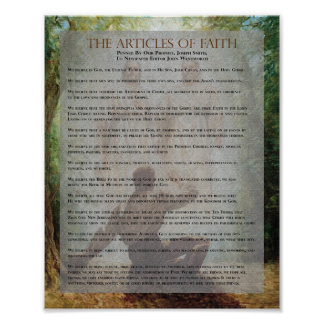 """The Articles of Faith"" Painting Series Document Poster"