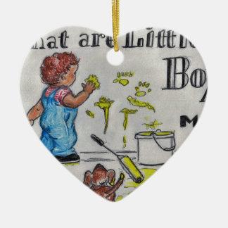 The Artist Ceramic Heart Ornament