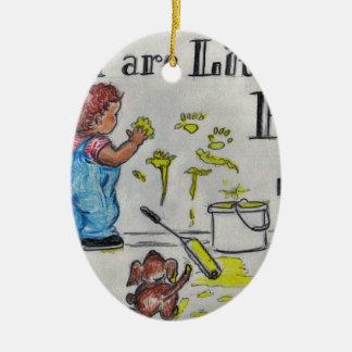 The Artist Ceramic Oval Ornament