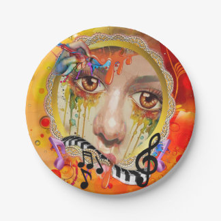 The Artist pallet Paper Plate