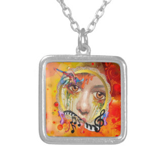 The Artist pallet Silver Plated Necklace