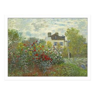 The Artist's Garden at Argenteuil by Monet Postcard