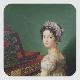 The Artist's Daughter at the Clavichord Sticker