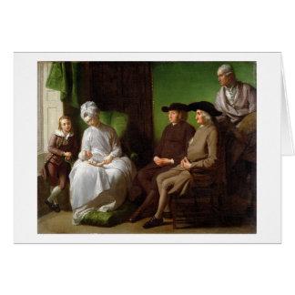 The Artist's Family (oil on canvas) Card