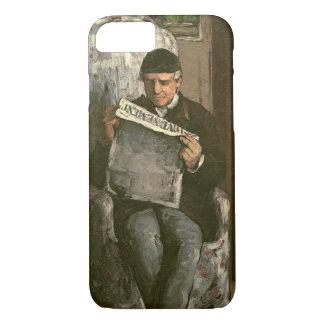 """The Artist's Father, Reading """"L'Événement"""", 1866 iPhone 7 Case"""