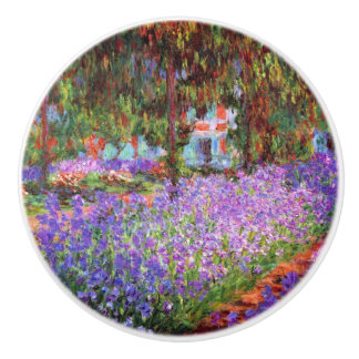 The Artist's Garden at Giverny by Monet Ceramic Knob