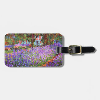 The Artist's Garden at Giverny by Monet Fine Art Luggage Tag