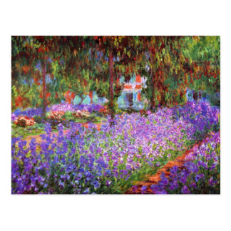 The Artist's Garden at Giverny by Monet Postcard