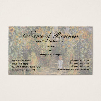 The Artist's Garden at Vetheuil by Claude Monet Business Card
