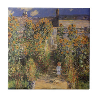 The Artist's Garden at Vetheuil by Claude Monet Ceramic Tile