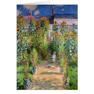 The Artist's Garden at Vetheuil, Claude Monet Card