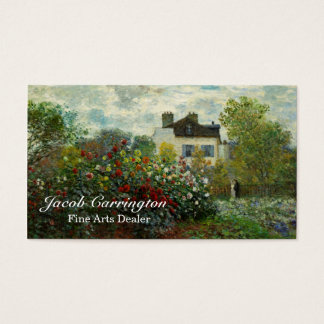 The Artist's Garden in Argenteuil 1873 (Monet) Business Card