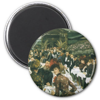 The Artist's Ladies by James Tissot 2 Inch Round Magnet
