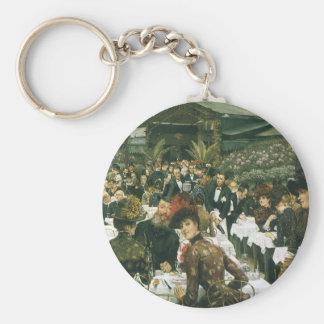 The Artist's Ladies by James Tissot Basic Round Button Keychain