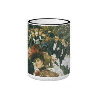 The Artist's Ladies by James Tissot Ringer Coffee Mug