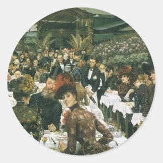 The Artist's Ladies by James Tissot Round Sticker