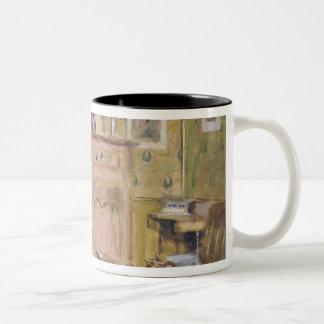 The Artist's Mother Taking Breakfast, 1899-1904 Two-Tone Coffee Mug