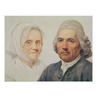 The artist's parents (oil on canvas) perfect poster