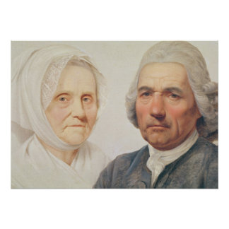 The artist's parents (oil on canvas) poster