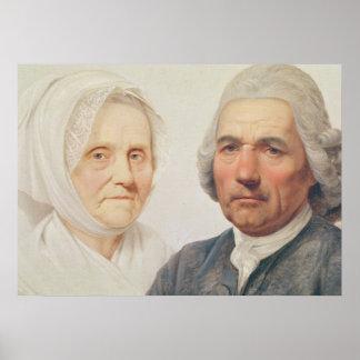 The artist's parents (oil on canvas) print