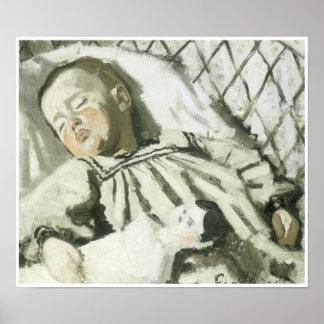 The Artist's Son Asleep, 1867-68 Poster