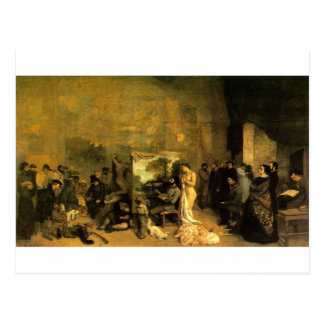 The Artist's Studio by Gustave Courbet Postcard