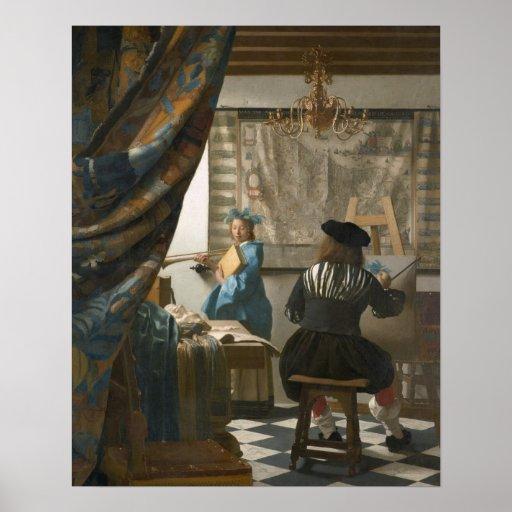 The Artist's Studio, c.1665-66 (oil on canvas) Print