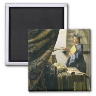 The Artist's Studio, c.1665-6 Magnet