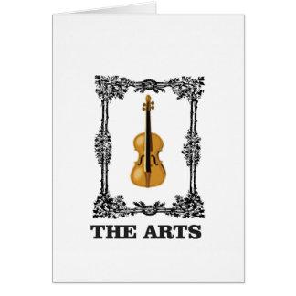 the arts violin card