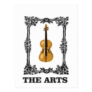 the arts violin postcard