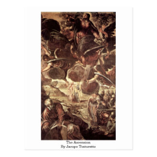 The Ascension By Jacopo Tintoretto Postcard