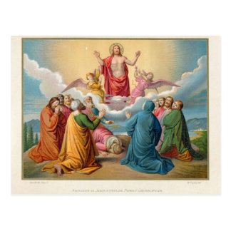 The ascension of Jesus 1879 Postcard