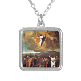 The Ascension - Painting by John Singleton Copley Silver Plated Necklace
