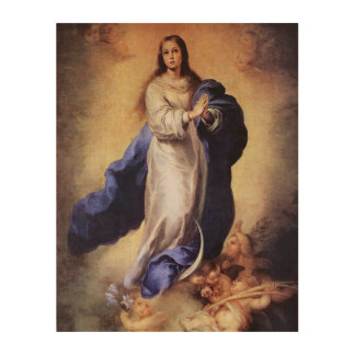 THE ASSUMPTION OF THE BLESSED VIRGIN MARY WOOD WALL DECOR