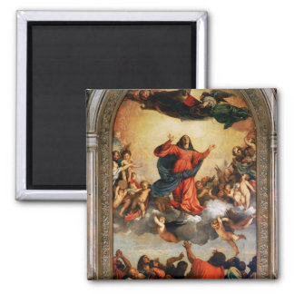 The Assumption of the Virgin, 1516-18 Square Magnet