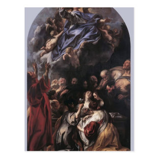 The Assumption of the Virgin by Jacob Jordaens Postcard