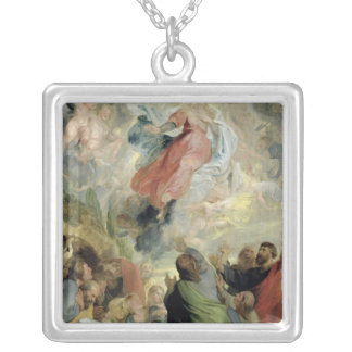 The Assumption of the Virgin Mary Silver Plated Necklace
