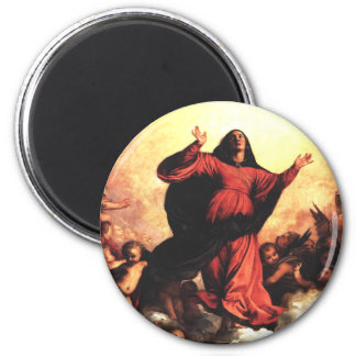 The Assumption the Virgin 2 Inch Round Magnet