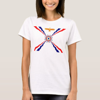 The Assyrian Chaldean Syriac Flag Women's Shirt